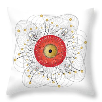 Complexical No 2324 Throw Pillow by Alan Bennington