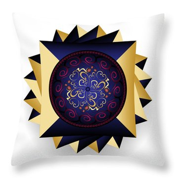 Complexical No 2365 Throw Pillow by Alan Bennington