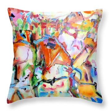 Complicated Landscape Throw Pillow