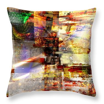 Complicity Of Green Throw Pillow