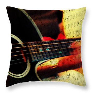Composing Hallelujah. Music From The Heart  Throw Pillow