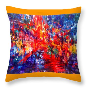 Composition # 1. Series Abstract Sunsets Throw Pillow