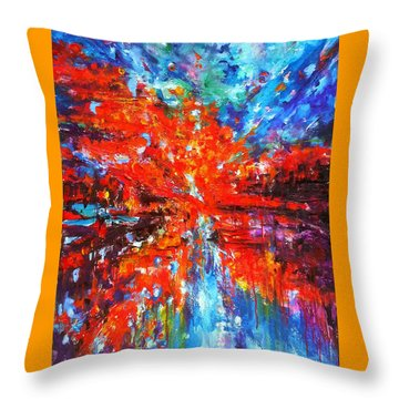 Composition # 2. Series Abstract Sunsets Throw Pillow