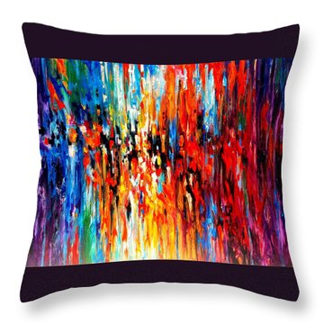 Composition # 4. Series Abstract Sunsets Throw Pillow