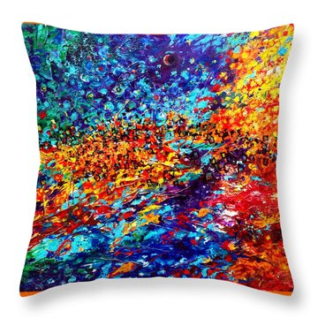 Composition # 5. Series Abstract Sunsets Throw Pillow