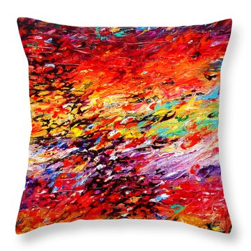 Composition # 6. Series Abstract Sunsets Throw Pillow