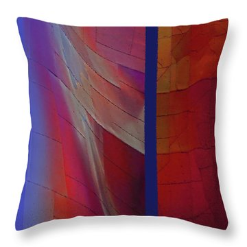 Throw Pillow featuring the digital art Composition 0310 by Walter Fahmy