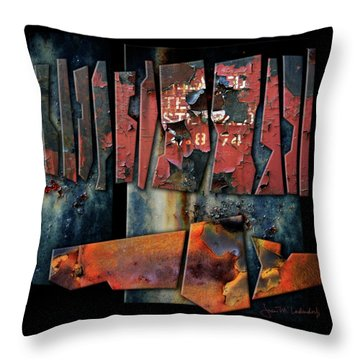 Composition 2 Throw Pillow by Joan Ladendorf