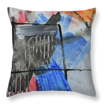 Composition 20188 Diptych Left Panel Throw Pillow