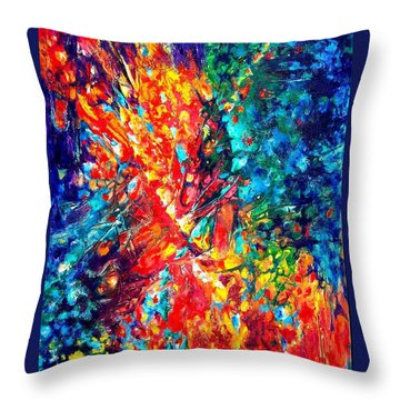 Composition #3. Abstract Sunsets.  Throw Pillow