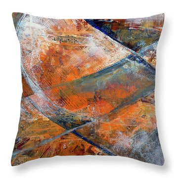Throw Pillow featuring the painting Composition Hieroglyphe by Walter Fahmy