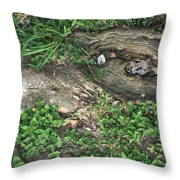 Composition In Trees Throw Pillow