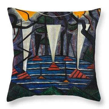 Throw Pillow featuring the painting Composition No. 23 by Jacoba van Heemskerck