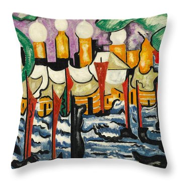Throw Pillow featuring the painting Composition No.62 by Jacoba van Heemskerck