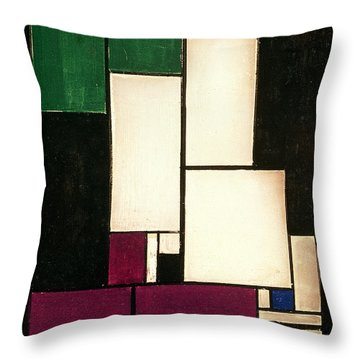 Composition Throw Pillow by Theo van Doesburg