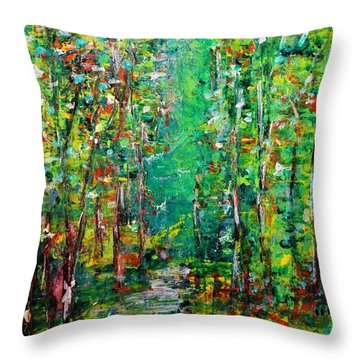 Compost Throw Pillow by Chaline Ouellet
