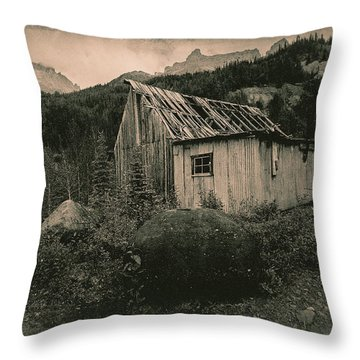 Compressor Shack And Blacksmith Shop Throw Pillow