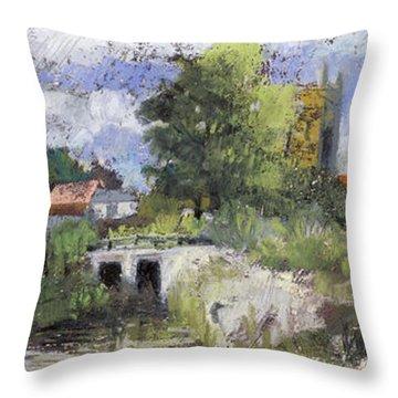 Compton Dando Somerset, After William James Mueller 1845 Throw Pillow by Martin Stankewitz