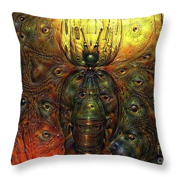 Computer Dreams 2 Throw Pillow by Melissa Messick