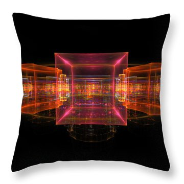 Computer Generated 3d Abstract Fractal Flame Modern Art Throw Pillow by Keith Webber Jr
