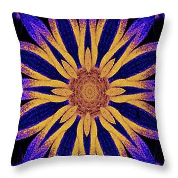 Throw Pillow featuring the digital art  Computer-generated Geometrical Modern Art by Merton Allen