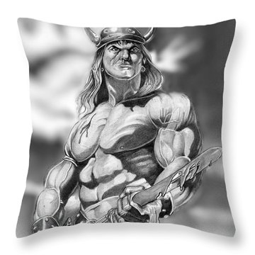 Conan Throw Pillow by Bill Richards