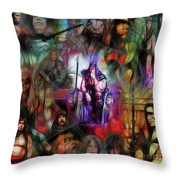 Conan The Barbarian Collage - Square Version Throw Pillow
