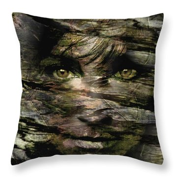 Concealed Emotions Throw Pillow