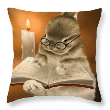 Throw Pillow featuring the painting Concentration  by Veronica Minozzi