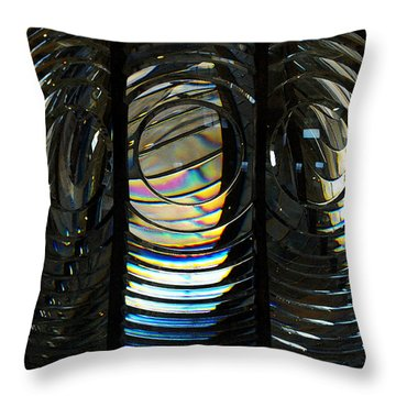 Concentric Glass Prisms - Water Color Throw Pillow by Linda Shafer