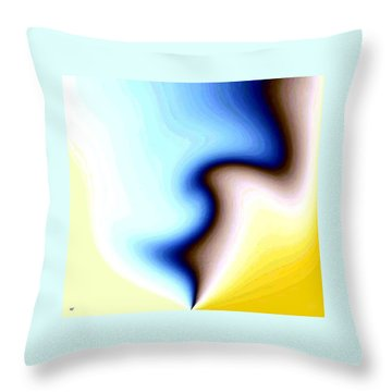 Throw Pillow featuring the digital art Conceptual 7 by Will Borden