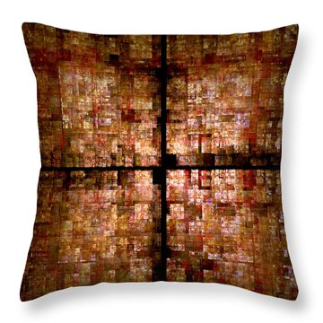 Conceptual Construct Throw Pillow