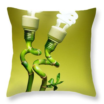 Conceptual Lamps Throw Pillow