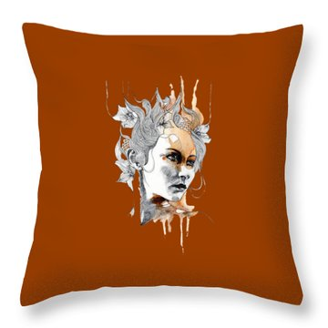 Concerned T-shirt Throw Pillow by Herb Strobino