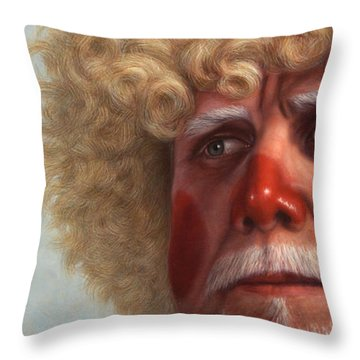 Concerned Throw Pillow by James W Johnson