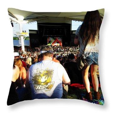 Concert Crowd Throw Pillow