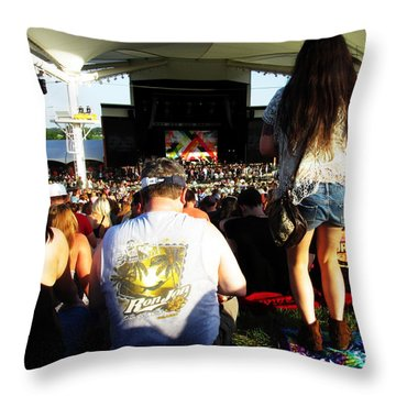 Concert Crowd Throw Pillow