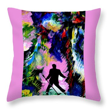 Concert In The Park Throw Pillow