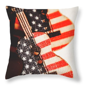 Concert Of Stars And Stripes Throw Pillow
