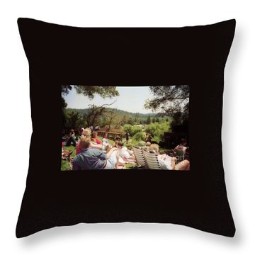 Concert Patrons Rest In The Sun Throw Pillow