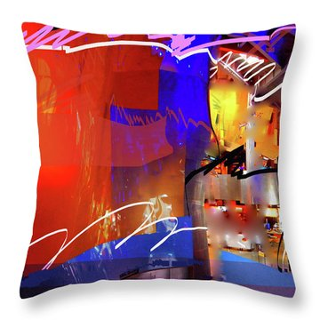 Throw Pillow featuring the digital art Concert Stage by Walter Fahmy