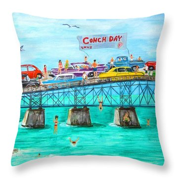 Conch Day Throw Pillow