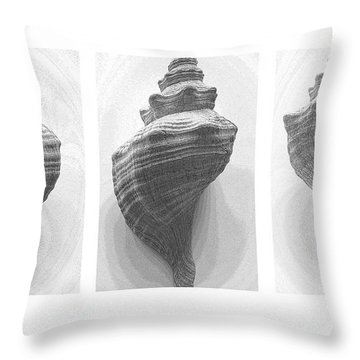 Conch Erotica Throw Pillow