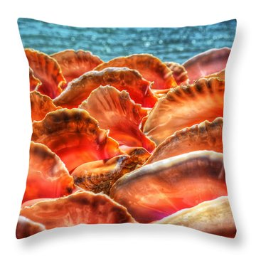Conch Parade Throw Pillow by Jeremy Lavender Photography