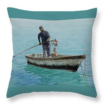 Conch Pearl Throw Pillow