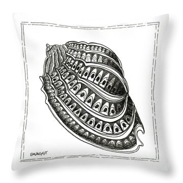 Conch Shell 1 Throw Pillow by Stephanie Troxell