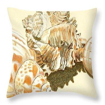 Conch Shells Throw Pillow