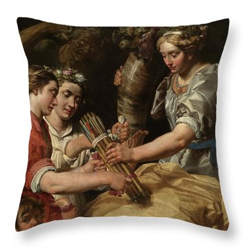 Concord, Charity And Sincerity Conquering Discord Throw Pillow
