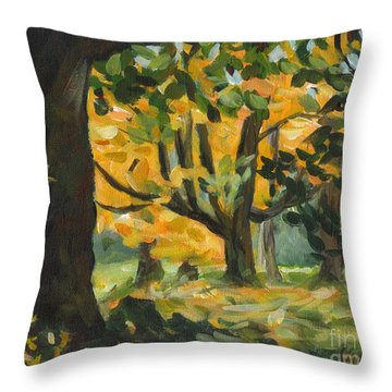 Concord Fall Trees Throw Pillow