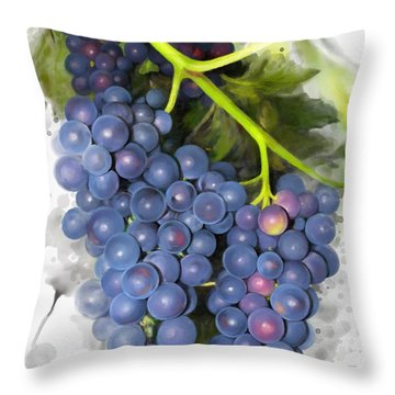 Concord Grape Throw Pillow